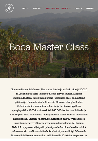 Boca Master Class - Unearthed Wines 2017